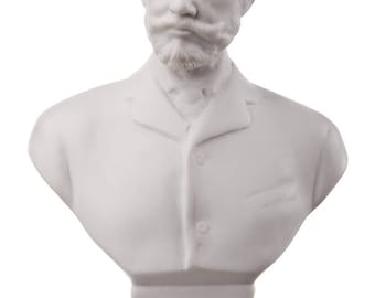 Russian Composer Pyotr Tchaikovsky (Tschaikowsky) Marble Bust / Statue 13 cm (5.1'') white