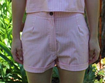 Pink Stripy Shorts