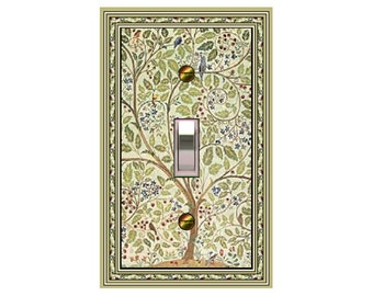 1626X - Art Nouveau Morris Willow Trees / Birds - mrs butler switch plate covers - choose sizes / prices from drop down box