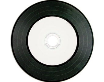 Sets of Vinyl CDs - Blank CD Retro Record Album | Music, Photography or File Delivery | Choose Sets of 5, 10, 25