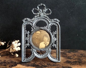 Photo Frame. Antique French Romantic Photo Frame. Vintage standup frame. Home decor