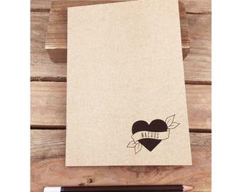 Nachos Eco Notebook, Jotter, Sketchbook, Journal A5
