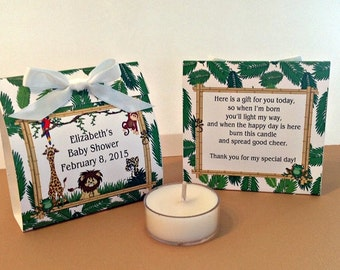 Jungle Safari Baby Shower Tealight Candle Favor- Quantity of 25