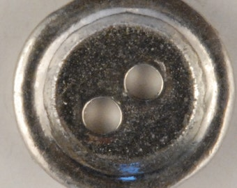2 Hole Rimmed Pewter Button BU-151, Used for Conferderatre uniforms and other clothing
