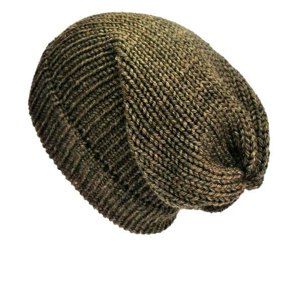 6ce6ef98ae8 ... best selling 68270 377c5 Brown slouchy beanie hat handmade soft wool hat  women mens ...