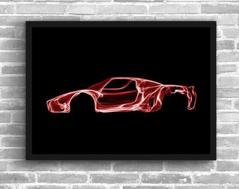 Ferrari Enzo Art Wall Art Supercar  Man Cave Gift For Him Automotive Art Car Art Home Decor Ferrari Enzo Décor Ferrari Enzo poster