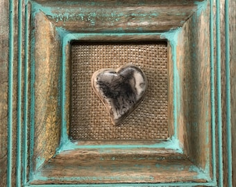 Customizeable Horsehair Raku heart: Hearts for Trudy