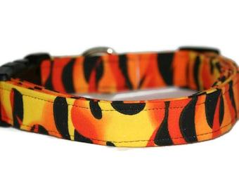 Hot Flames Dog Collar