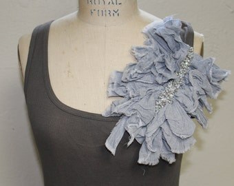 Tank top with statement ruffle