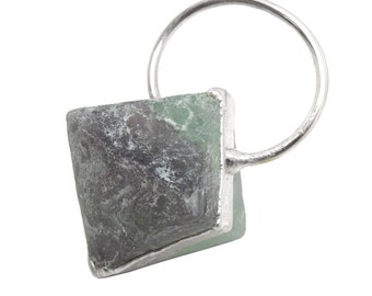 Rainbow Fluorite Harlequin Point with Fancy Electroplated Silver Cap and Bail BL (S93B22-08)