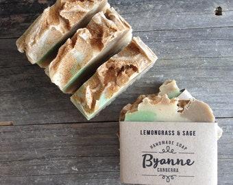Lemongrass & Sage Exfoliating Soap