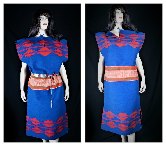 Tribal 70s NAVAJO Native Navajo Ceremony Indian Dress Dress Blanket AUTHENTIC American Navajo Vng Hand Dress Wool Wedding Loomed Rug qwxT5npvH