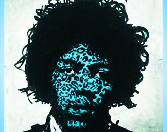 Jimi Hendrix 31X31