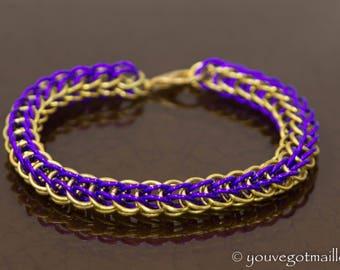School Team Colors Chainmaille Bracelet