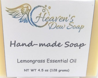 Handmade Lemongrass Soap Cold Process Bridal Shower, Wedding Favor, Baby Shower, Artisan Soap, Gift Soap, Wholesale Available, Bitcoin