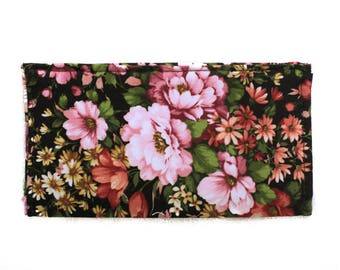 Checkbook Cover | Fabric Checkbook Cover | Checkbook Case | Bags and Purses | Wallets | Checks | Organizer | Floral | Gifts under 10 | Gifts