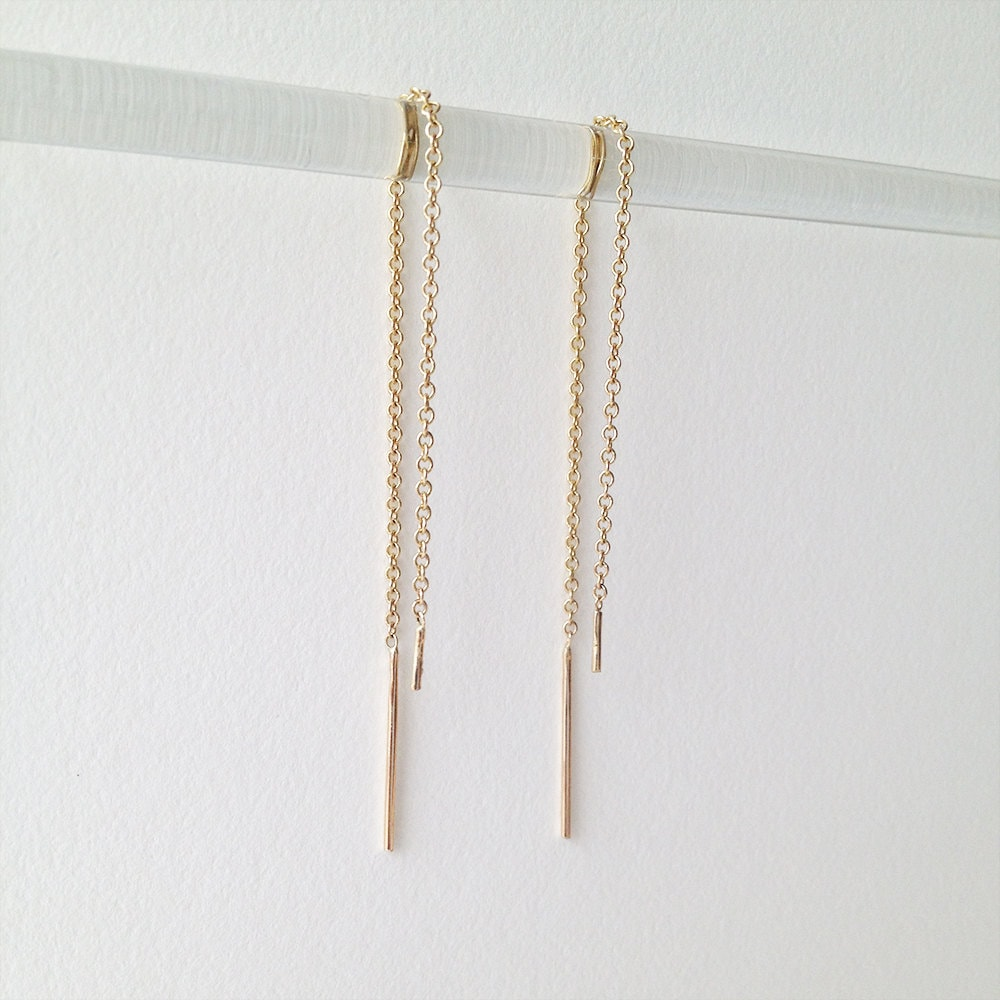 moon filled jewelry earrings delicate kozakh kz handmade minimalist dainty balance bar gold