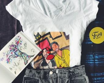 T-shirt organic drawing customized as per photo