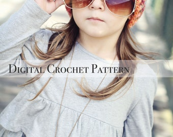 Crochet Easter Hat Pattern / Crochet Pattern / Ribbed Brim Slouchy Hat Pattern 006 / Women's Hat Pattern / Children's Hat Pattern