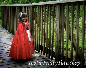 Little Red Riding Hood or Witch cape costume Kids 3T-8 choose from 4 different colors
