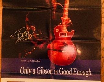 Slash Gibson Les Paul Poster 1993