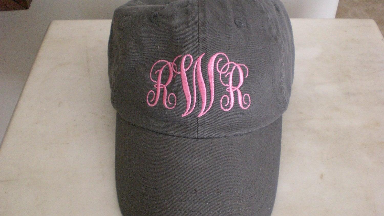 Monogram baseball hat jpg 1500x844 Monogrammed baseball hat 7e54193aa20