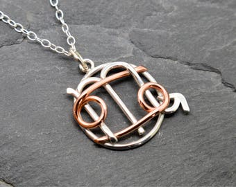 Scorpio cancer combined zodiac sign necklace