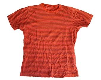 RRL T-shirt red navy stripes