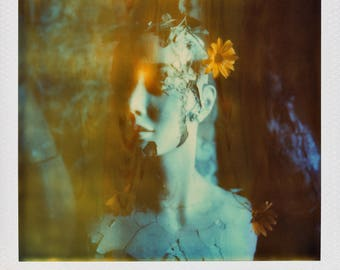 Polaroid Print - Abandoned Mannequin with Flowers