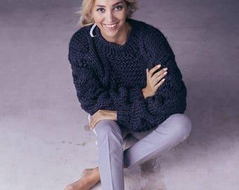 Amaze Sweater. Merino wool Sweater. Chunky Sweater. Merino wool.