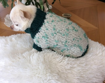 Coat Wool Sweater, dog or cat.. .among 1 kg to 2 kg back 20 cm