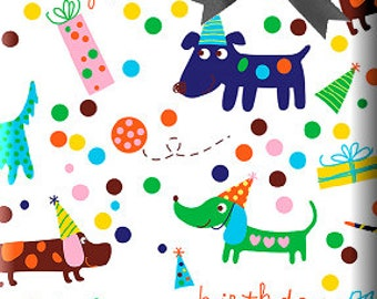 Barkday Doggie Gift Wrap Wrapping Paper 15ft Roll