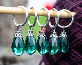 Teardrop Ring Stitch Marker - Fits up to 10mm/US 15 needles