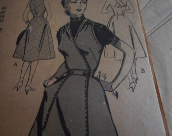 Vintage 1950's? Mail Order 2810  Wrap Sundress Sewing Pattern, Size 14, Bust 32