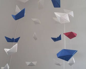 nursery mobile origami boats