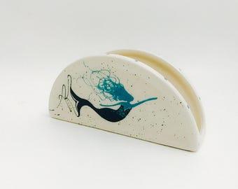 Napkin Holder. Mermaid Napkin Holder. Handmade By Sara Hunter