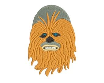 Chewbacca in Star Wars : Machine embroidery design
