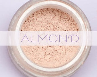 Mineral Makeup Foundation ~Almond ~ Light natural foundation - acne safe - cruelty free - organic vegan makeup safe for acne prone skin