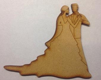 mdf Bride and Groom wooden decoration wedding blank