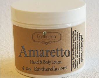 Eartherella AMARETTO Hand & Body Lotion Jar, 4 oz.