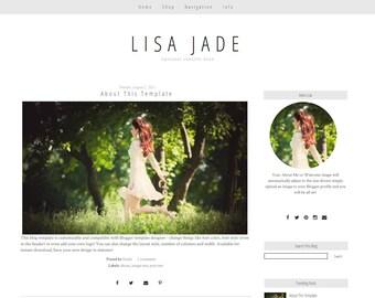 Blogger Template -  Simple Blogger Template - Grey Blogger Template - Responsive Blogger Template - Blog Design - Jade