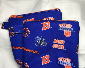 Reuseable snack and sandwich Bag      Eco-Friendly Bag  Reuseable zippered bag    BSU Boise State