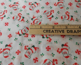 Vintage 100%  cotton Christmas material