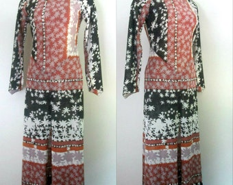 Boho Chic Maxi Dress Lame' 1970s Mr. Boots Limited Edition
