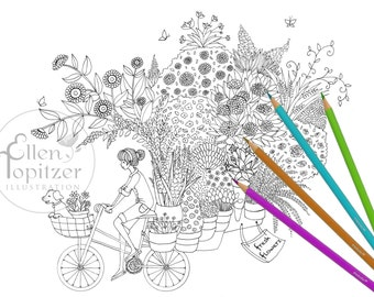 Coloring Page - Tour de Plants