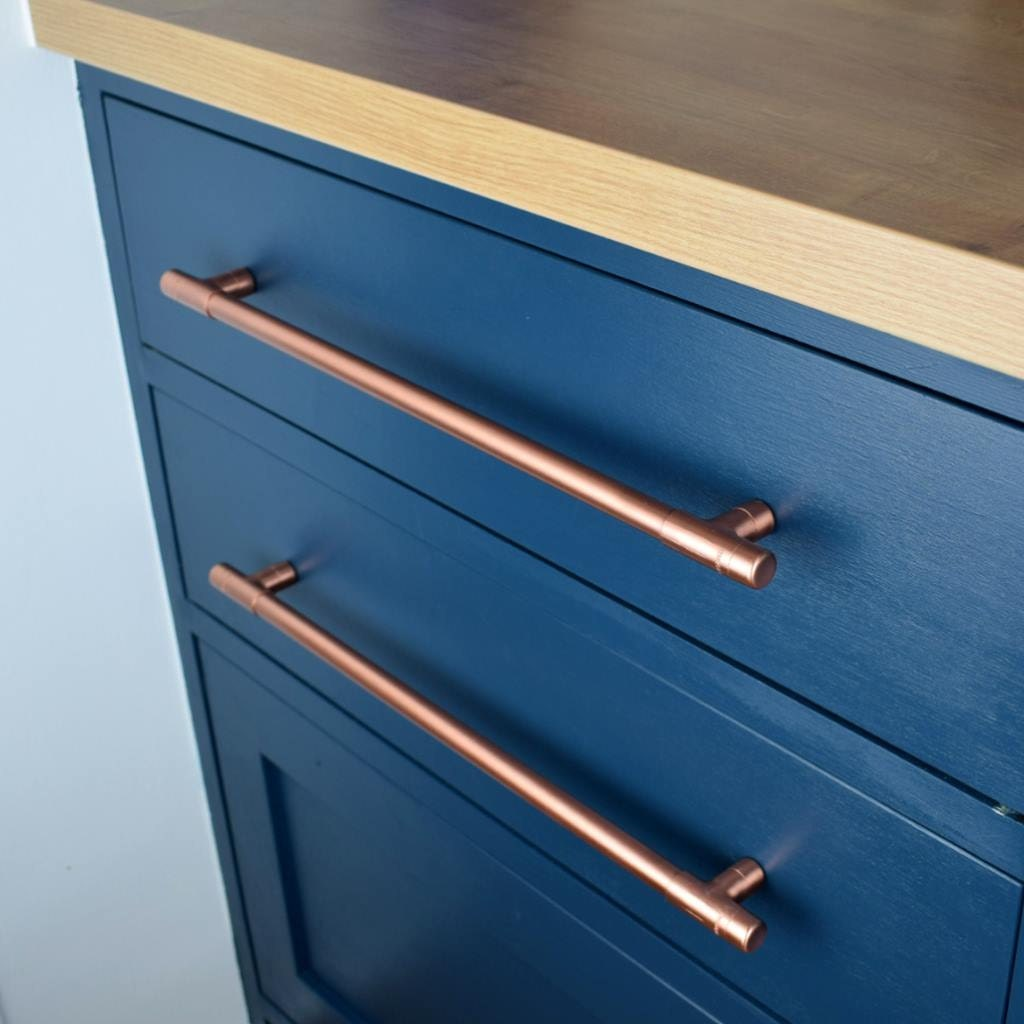 modern copper t pull handle drawer pull cabinet hardware kitchen