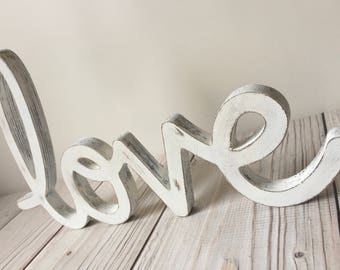 Rustic Home Decor - Rustic Wedding Decor - Love Sign - Wood Sign - Farmhouse Decor - Love Sign - Wedding Decor - Rustic Sign - Wall Decor