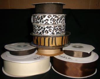 Animal Print Grosgrain Ribbon Bundle