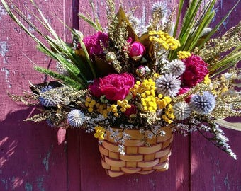 Peony and Thistle Harvest Basket