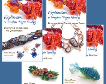 The Complete E-book Collection:  Explorations in Freeform Peyote Beading in ePub and Kindle formats